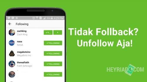 Cara Unfollow Instagram yang Tidak Follback Cara Unfollow Instagram yang Tidak Follback Dengan Cepat