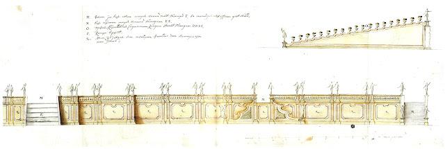 Миражеская стена с лестницей и каскадом в Верхнем саду