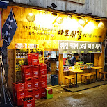 interesting street restaurants in Hongdae in Seoul, Seoul Special City, South Korea