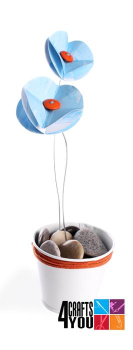 Flor de papel ideal para decorar Manualidades / Papel indy88
