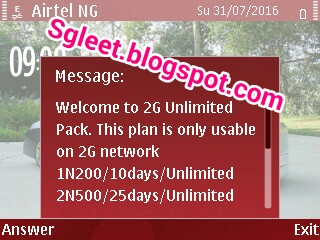 AIRTEL REDUCES HER #200 FOR 2GB, #500 FOR 5GB TO 10 DAYS AND 25 DAYS RESPECTIVELY
