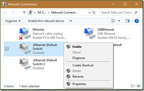 meraTechPort: Tip: How vEthernet (Default Switch) gets