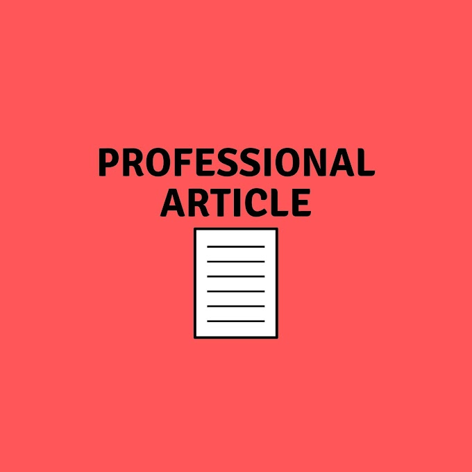 How to Write professional Article