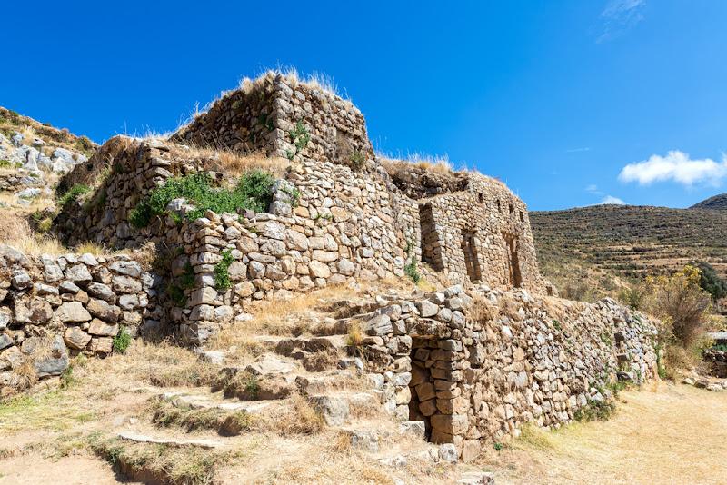 Ruins Palace, Isla del Sol, Lake Titicaca