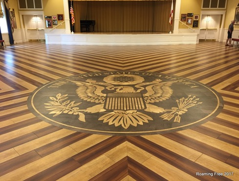 Decorative Inlay in the wood floor