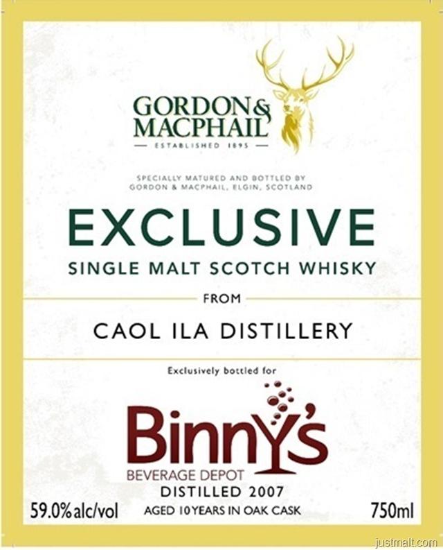 Gordon & Macphail Exclusive