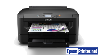 How to reset flashing lights for Epson WorkForce WF-7111 printer