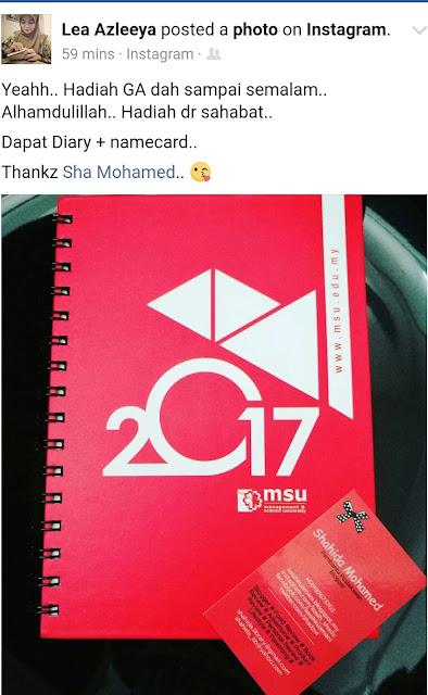 Hadiah Giveaway Planner & Calendar