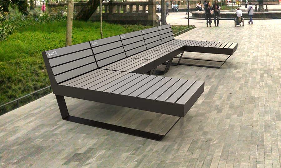 Bancas para parques bancas urbanas inoplay for Mobiliario urbano contemporaneo
