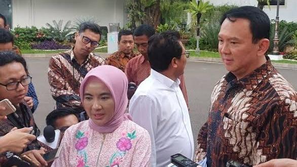 Foto: Dirut Pertamina  Nicke Widyawatidan Ahok. Produksi D100 Pertamina Bakal Serap 1 Juta Ton Sawit.