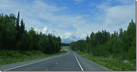 Road north toward Denali State Park