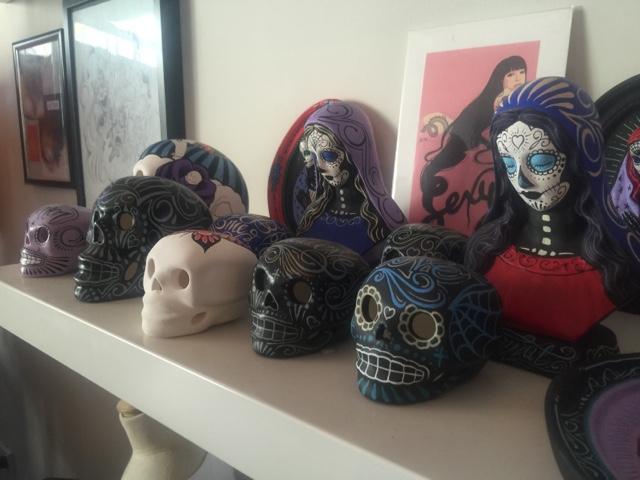 Skullavera Day of the Dead art. Photography by Rachel Hancock @retrogoddesses