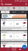 Screenshot of Arkansas Razorbacks Gameday