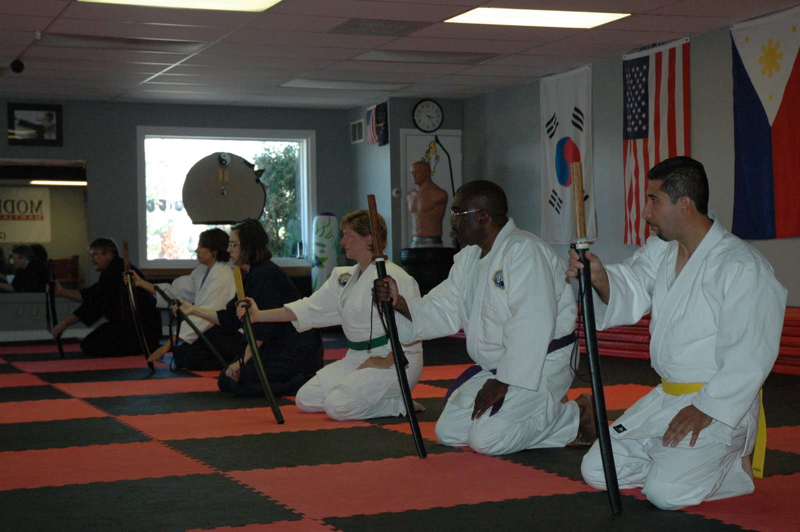 Practice with students from Soseikan and Agatsukan dojos