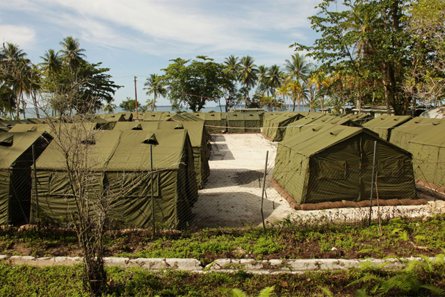 Offshore processing centre for asylum seekers on Manus Island in Papua New Guinea. Photo: Australian Government DIBP