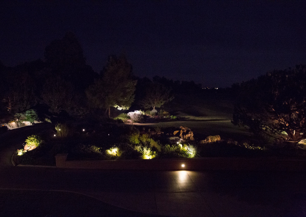photo of the view at night at Addison