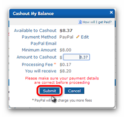 ClixSense solicitud de pago