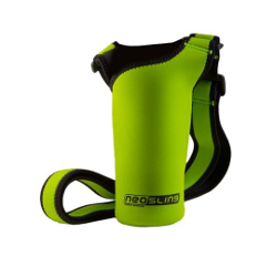 NEOSLING, Adjustable Neoprene Bottle Holder, Treefrog Green - image
