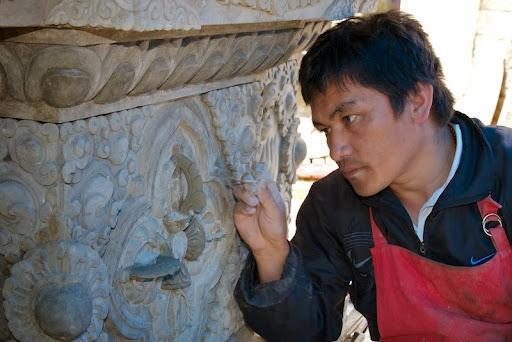 Jampal, an artist at work.