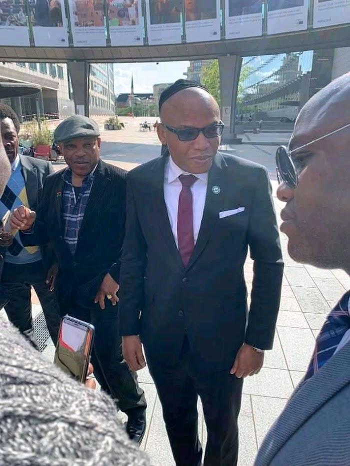 Breaking!! Happening Now: Nnamdi KANU arrives EU parliament - Report
