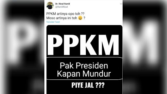 Ramai Soal PPKM, Netizen: Pak Presiden Kapan Mundur?