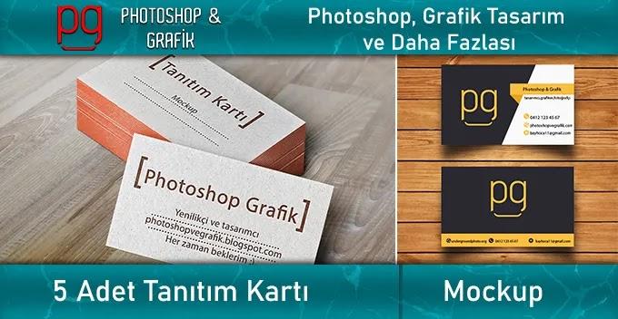 5 Adet  Kartvizit Mockup   Business Card Mockup