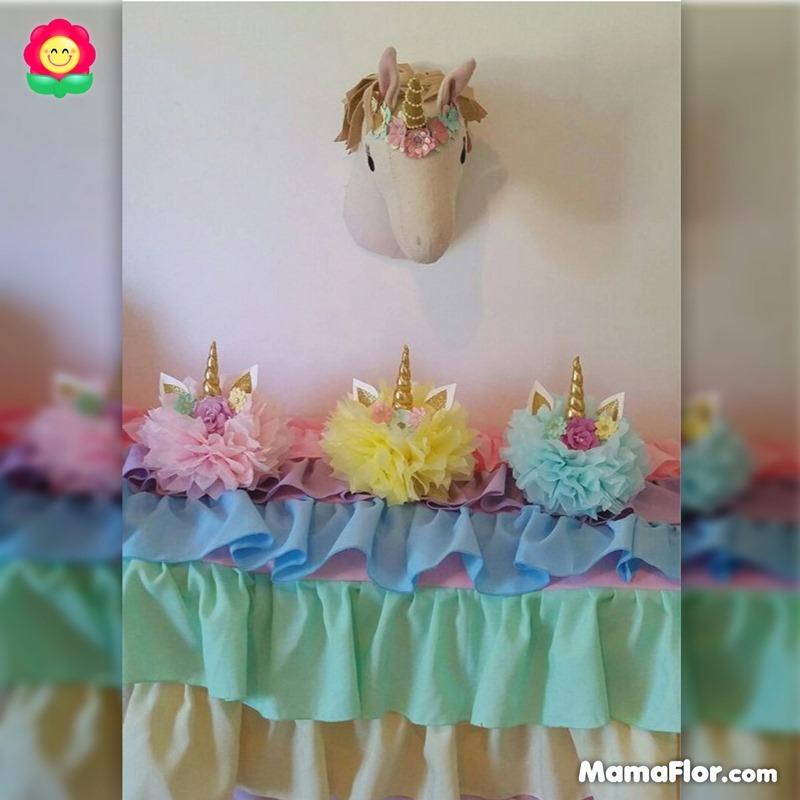 centros de mesa unicornios fiesta 12