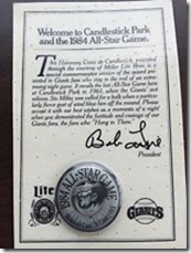 commemorative handout 1984 All Star Game
