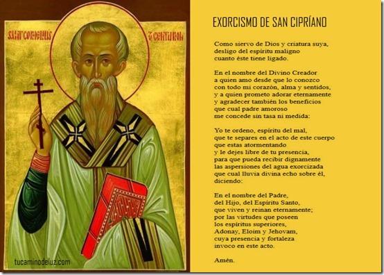 EXORCISMO DE SAN CIPRIANO