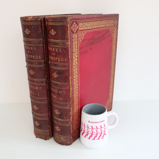 The Works of Shakespeare - Imperial Edition - Antique Two Volume Book Set