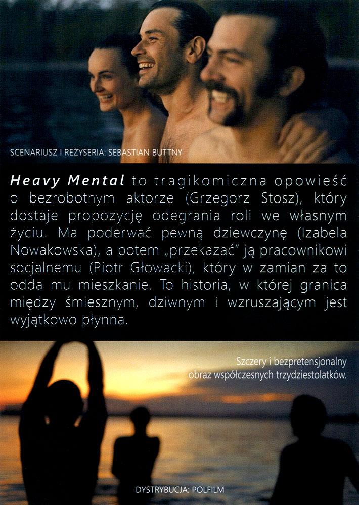 Ulotka filmu 'Heavy Mental (tył)'