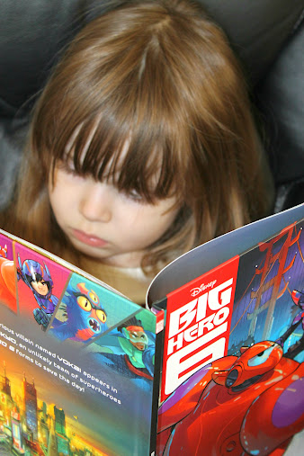 We love the Big Hero 6 books available at Walmart