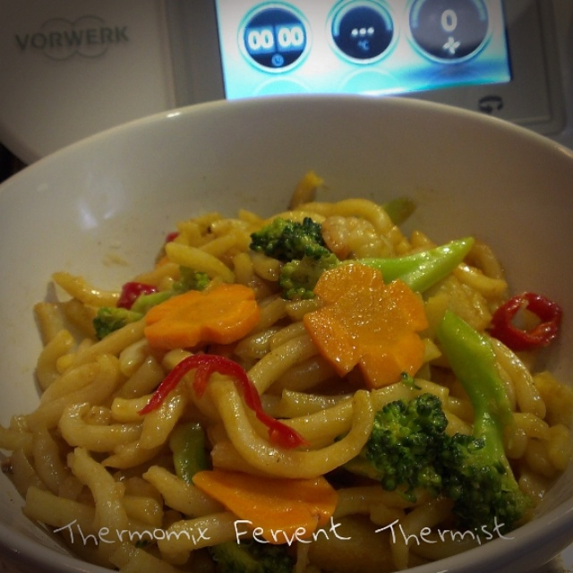 ripple thoughts fried udon quick lunch by thermomix. Black Bedroom Furniture Sets. Home Design Ideas