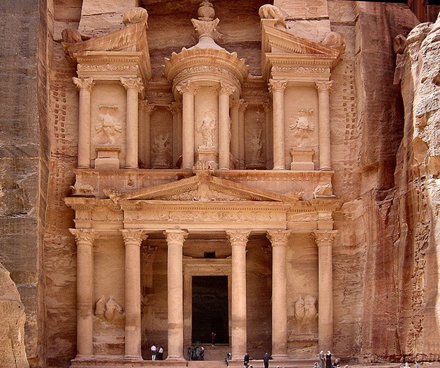 Petra, one of the seven wonders of the world at Jordan