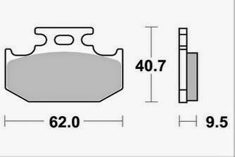 AP Racing Bremsklötze hinten S/E 2 Bolzen