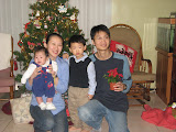 The Zhao family from L to R: Felicity, Daphne, A-Guang, Joe