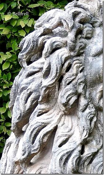 Mähne des Irrgartenlöwen