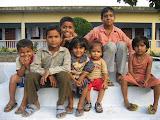 Children of staff on the campus of Amarpurakshi Project