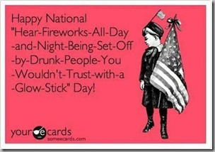 fireworks all day and night