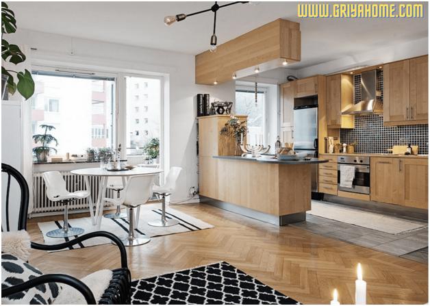 Apartemen Dua Kamar Tidur Modern Dengan Tata Letak Menarik