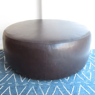 Room & Board Brown Lind Leather Ottoman