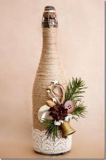 decorar botellas navidad todonavidad info (2)
