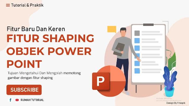 Cara Memotong Shape di Powepoint 2016