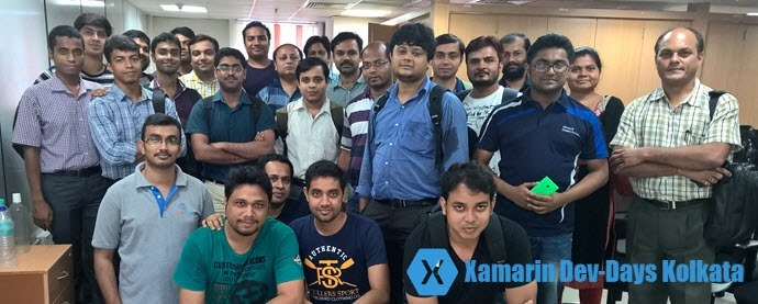 Group photo of Xamarin Dev-Days Kolkata