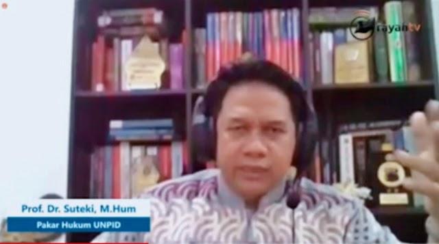 Prof. Suteki: Penegakan Hukum Belum Merdeka dan Cenderung Suka-Suka