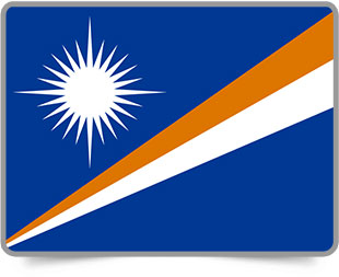 Marshallese framed flag icons with box shadow