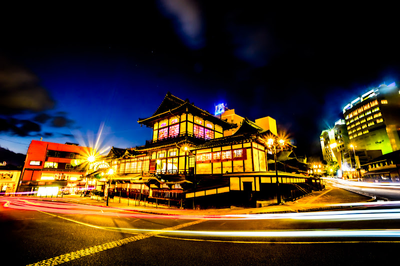 Dogo Hot Spring main building illumination south side2