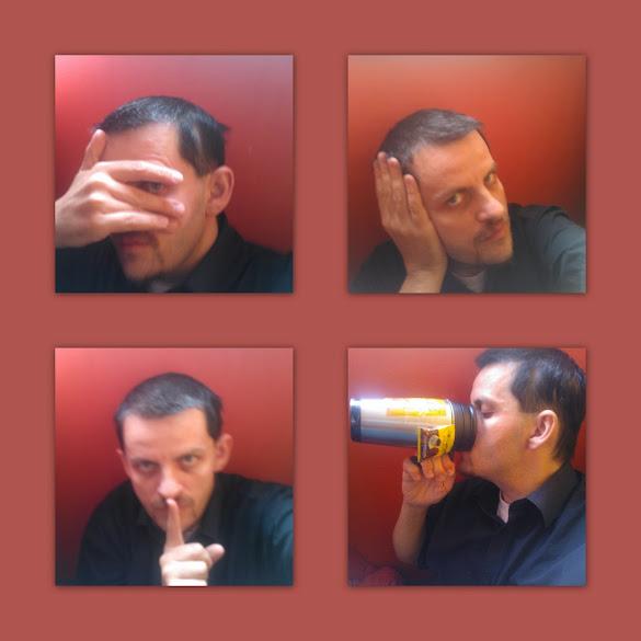nem látok, nem hallok, nem beszélek, csak kávézom