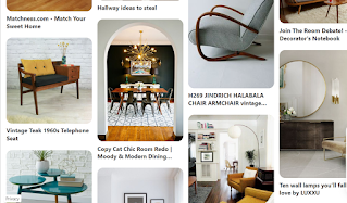 Pintrest board of midcentury interior design images