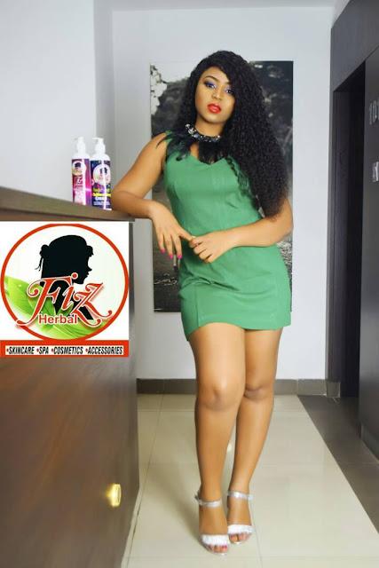 Popular nollywood controversial teen actress, Regina Daniel gets an endorsement from Fizz Herbal Skin Care